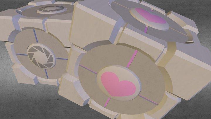 Portal cubes 3D Model
