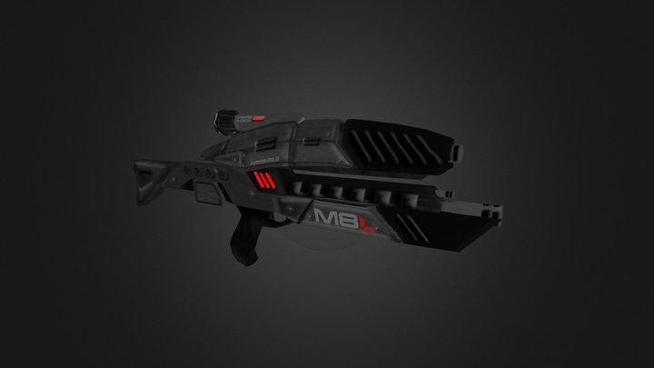 Mass Effect M-8 Avenger Rifle 3D Model