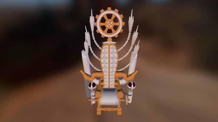 Steampunk Throne 3D Model