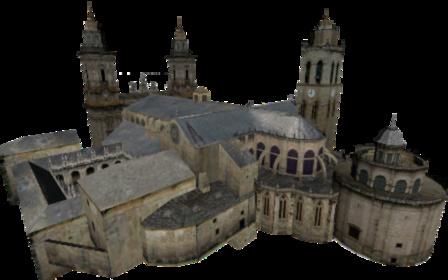 Catedral de Lugo 3D Model