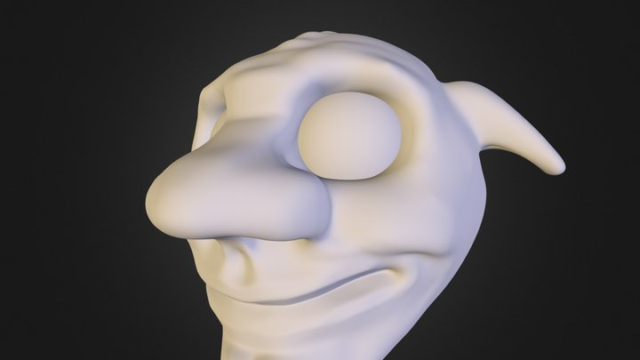 Test Toony Orc Head :) 3D Model