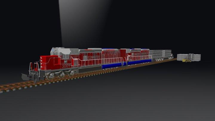 Ice blocks 3D Model