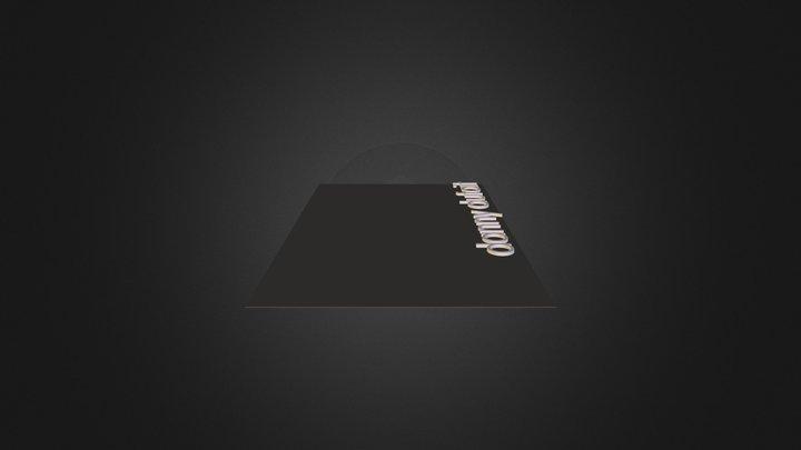 my_name 3D Model