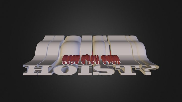 A12: 3D logo with Text Slpine, and Sweep NURBS 3D Model