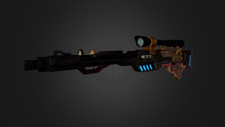 Steampunk sniper rifle WIP 3D Model