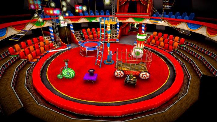 Circus Scene 3D Model