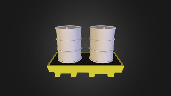 Pallet para Tambores - Grupo TK 3D Model