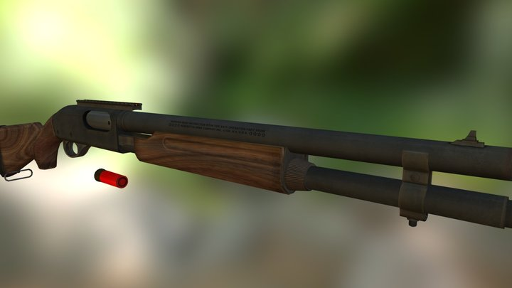 Remington 870 3D Model
