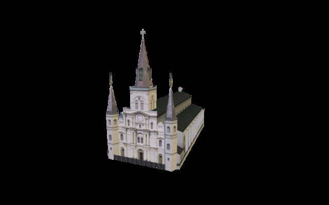 St. Louis Cathedral of New Orleans 3D Model