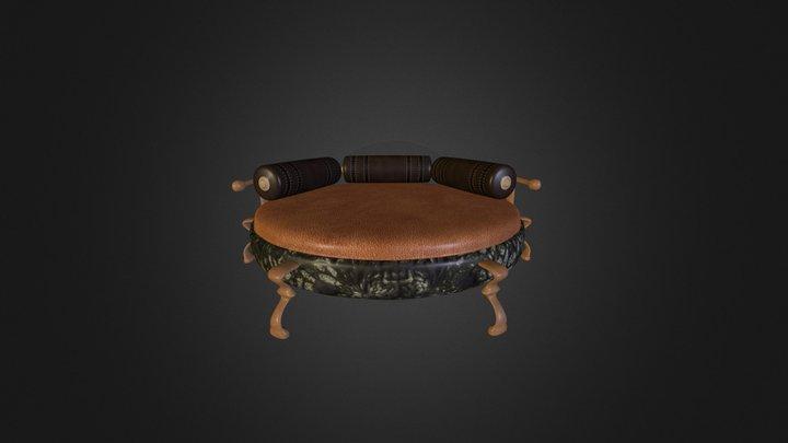 Steampunk Bed 3D Model