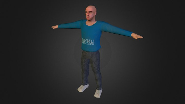 Graded Unit Low Poly Character 3D Model