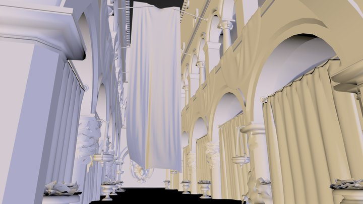 sponza atrium by crytek 3D Model