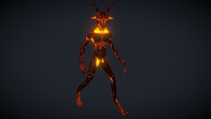 Devil lowpoly 3D Model
