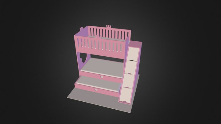 Princess Bed 3D Model