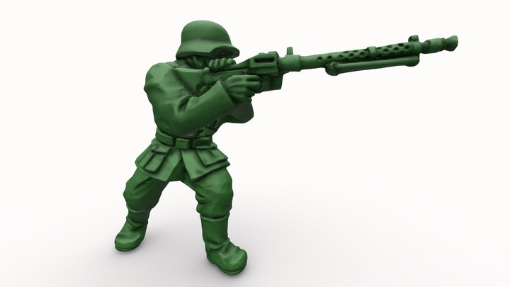 Toy Soldier 3D Model