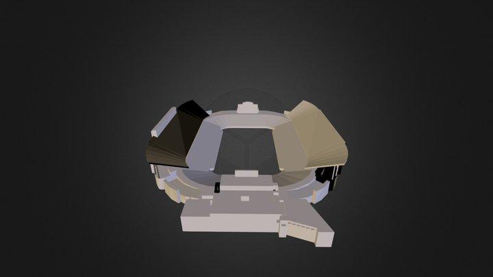 Rice University football stadium 3D Model