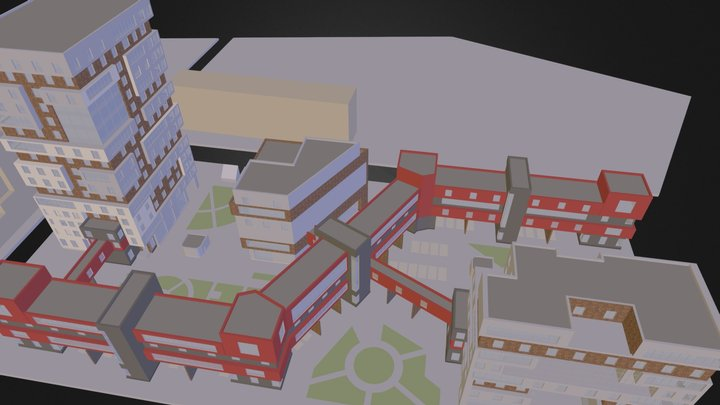 multifunctional residential complex 3D Model