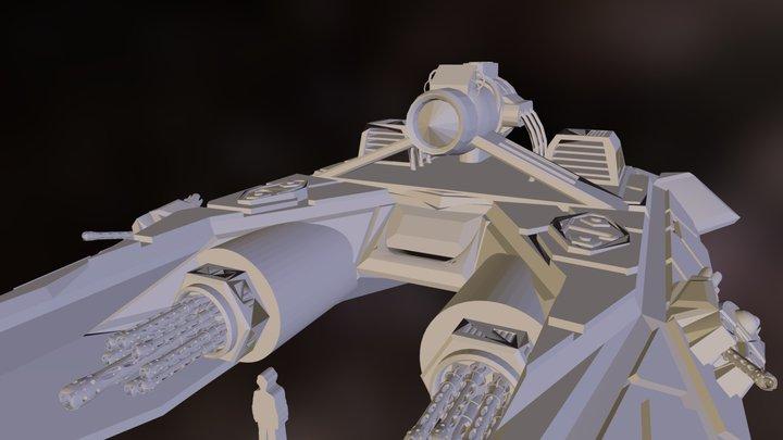 intercepter ship .obj 3D Model
