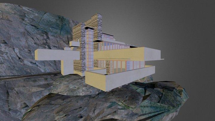 The Fallingwater House Of F. LLoyd Wright 3D Model