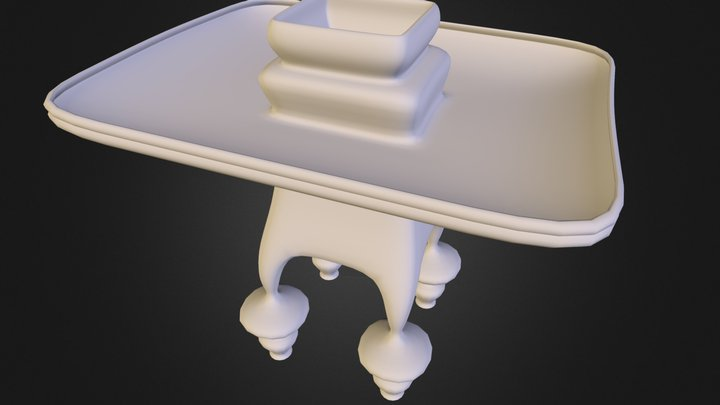table de object 3D Model