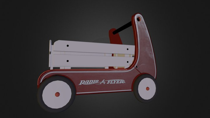 Red wagon Paul Potter 3D Model
