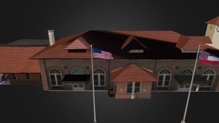 Hattiesburg Train Depot 3D Model