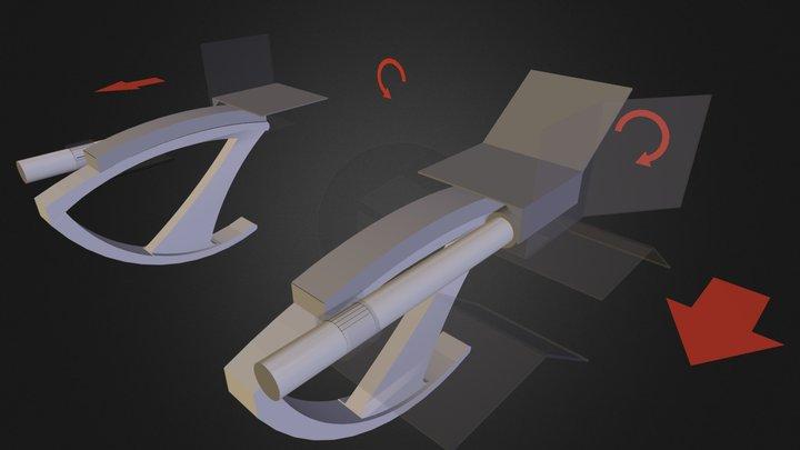 Split Keyboard Mount Movement Demo (Mounted) 3D Model