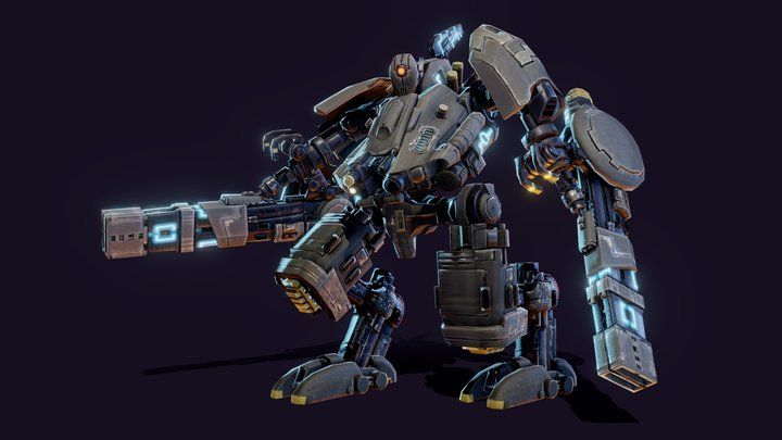 Robo_OBJ_pose4 3D Model