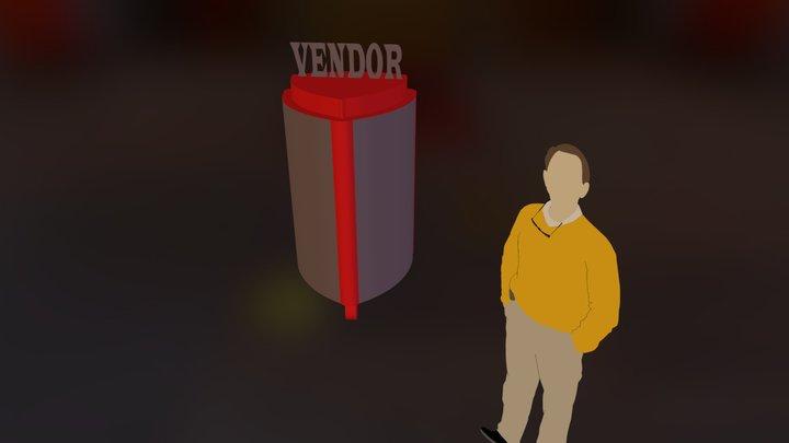 VENDOR VALET PARKING.dae 3D Model