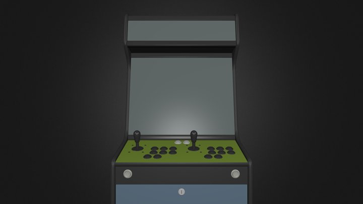 LCD-bartop-marquee-keyboard.blend 3D Model