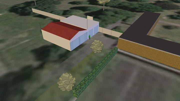 DLRG 4G 4flach&parallel Rettungswache 3D Model