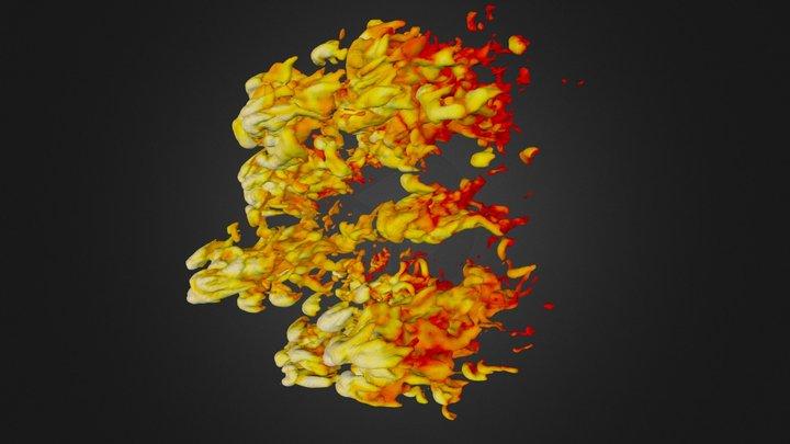 Cloud Crushing - 5.000000e-23 3D Model