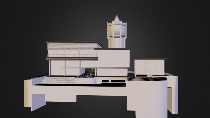 Thuin - Salle Polyvalente 11.obj 3D Model