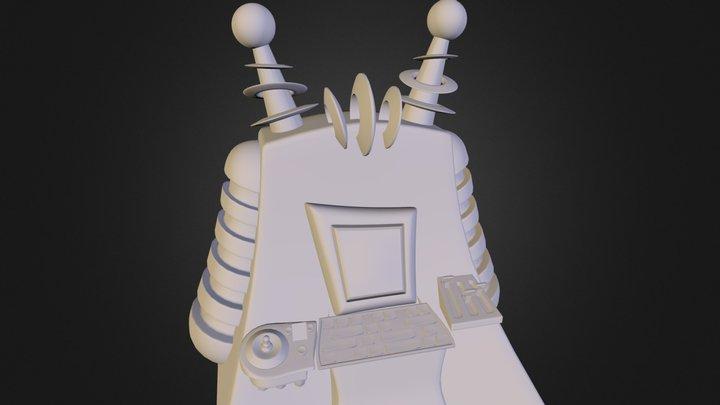 Cartoon Computer 3D Model