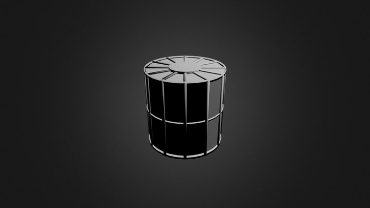 Crystal Fuel Tank (Top Fairing Removed) 3D Model