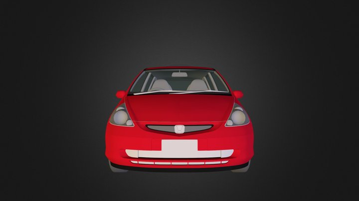 3d-honda-fit.3DS 3D Model