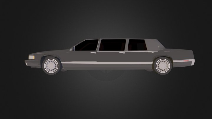 _91 superior cadillac limo.dae 3D Model