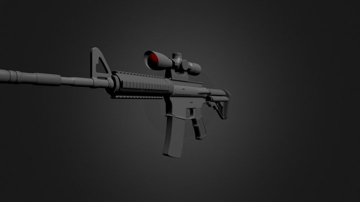 blackwidowRConcept3(with-grip-atl) 3D Model