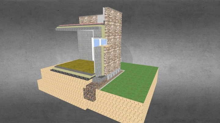 Kafr Ruman Shell Detail 3D Model