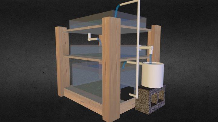 Capstone Aquaponics Prototype 3D Model