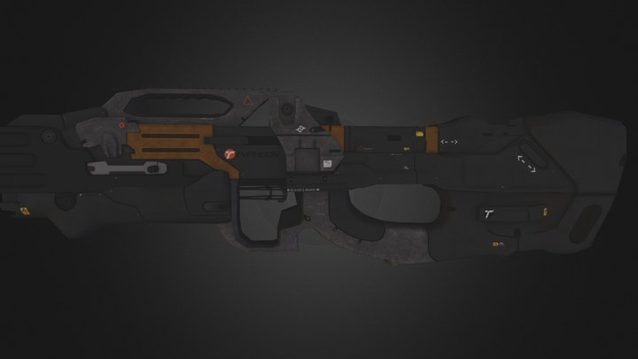 Crysis 3 Typhoon Assualt Rifle 3D Model