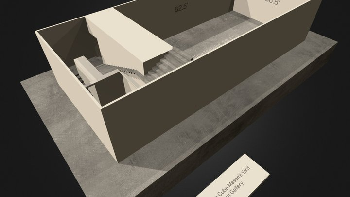 White Cube Masons Yard Basement Gallery 3D Model