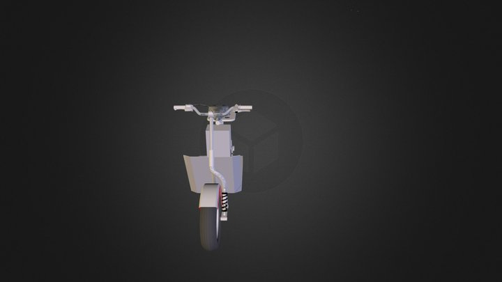 Scooter in trasparenza 3D Model