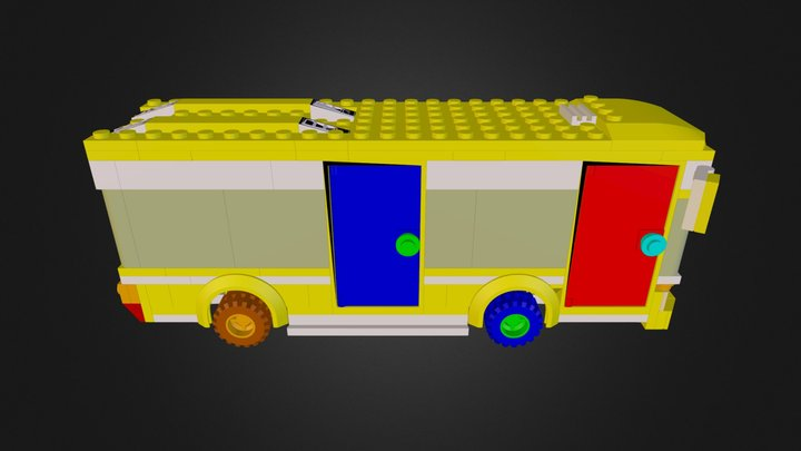 lego bus from set 7641 3D Model