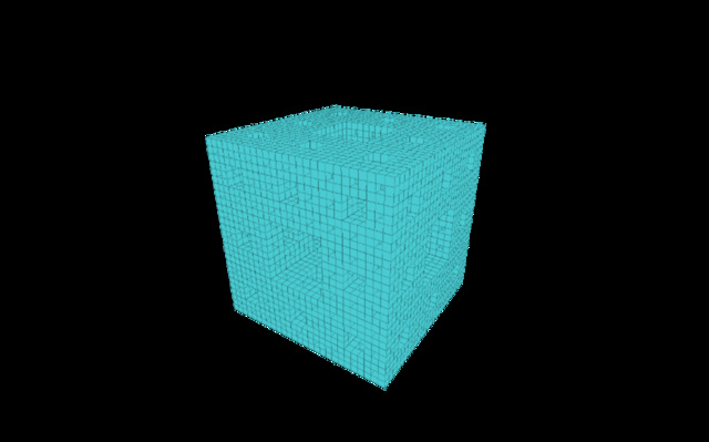 4th Fractal Cube Iteration 3D Model