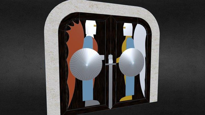 Maison Hadès2.0 - porte aux chevaliers 3D Model