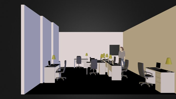 office plan.dae 3D Model