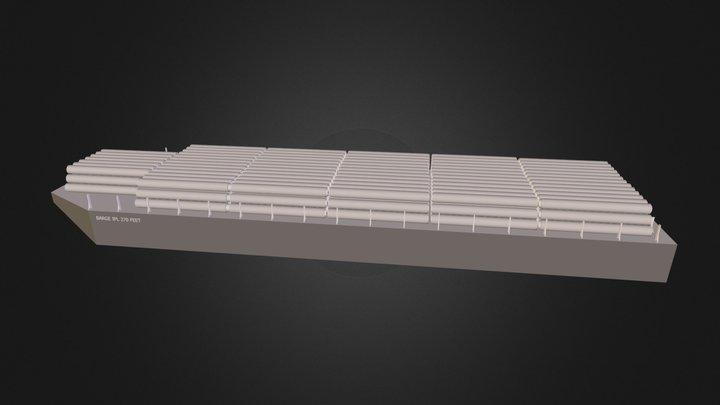 Barge 270 feet  3D Model