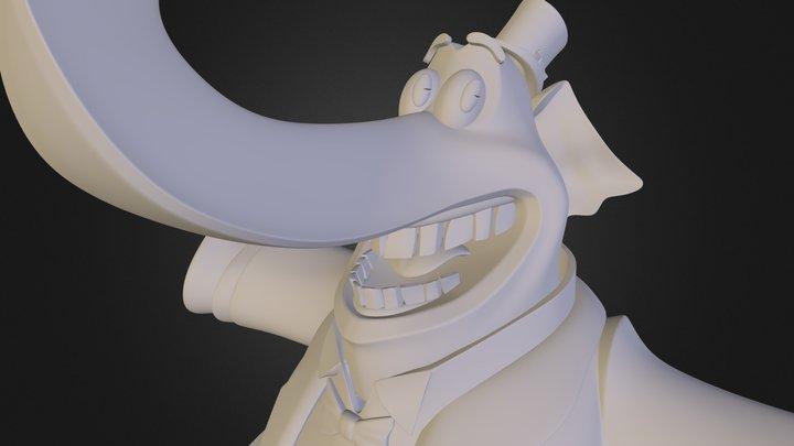 BEM Elephant 3D Model