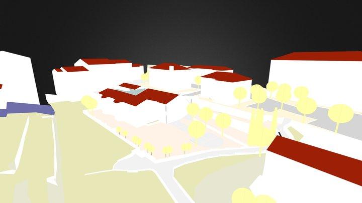 SARTENE PARKING EXISTANT avec PS3 - Copie.dae 3D Model